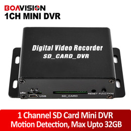 Wholesale Mobile Bus Dvr - 1 Channel CCTV Mini DVR Digital Video Recorder SD Card Motion Detection Audio Recording For Mobile Bus Car Home Security Use