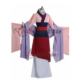 Feito sob encomenda Mulan vestido de Princesa Vestido filme Cosplay Traje traje do partido do dia das bruxas de
