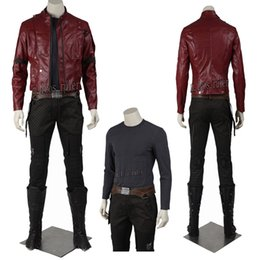Wholesale Galaxy Costume - Popular Guardians of The Galaxy Peter Quill Star-Lord Cosplay Costume Halloween Costume Movie Character Any Size
