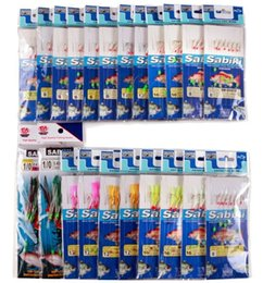 Wholesale Sabiki Lures - 22Packs Sea Fishing Pesca Sabiki Piscatore Rigs Baits with Barbed Hooks Fake Lure Set Free Fisher Firsh Baiting