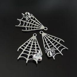 10pc Antiqued Silver Alloy Tone Spider Web Pendentif Charmes Fabrication de bijoux 39477 fabrication de bijoux ? partir de fabricateur