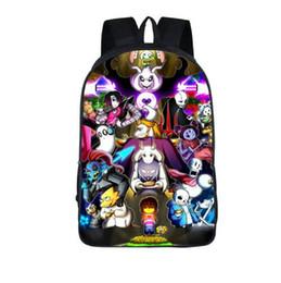 Wholesale Embroidery Applique Children - Anime Undertale Backpack for Teenage Girls Boys Book Bag Sans Women mochila Men Travel Bag Undertale Children School Backpacks