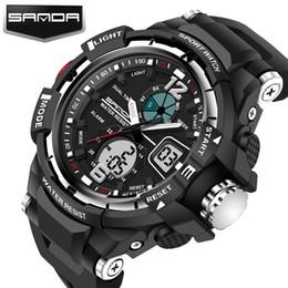Wholesale digital hands watch - Hot!!! SANDA Fashion Lovers' Sports Watches Waterproof 30M Men and Women Digital Watch Swimming Diving Hand Clock Montre Homme