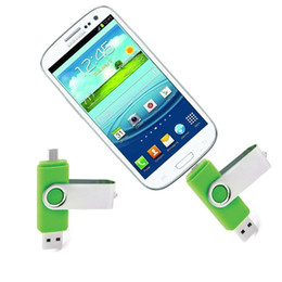 Wholesale Android Drive - 64GB 128GB 256GB OTG external USB Flash Drive USB 2.0 Flash Drive Memory for Android ISO Smartphones Tablets PenDrives Disk Thumbdrives DHL