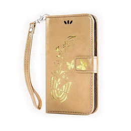 Wholesale Google Nexus Case Flowers - Gold plated For Google Nexus 6 cardholders Emboss Flowers and butterflies Flip Wallet Case Cover with Kickstand and Wrist Strap Hang buckle