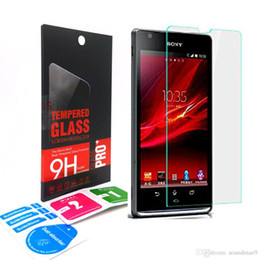 Wholesale Glasses Sp - Tempered Glass for Sony Xperia SP M35h Premium Ultrathin 0.33mm Tough Explosion Proof Clear Screen Protective Film With Retail Box