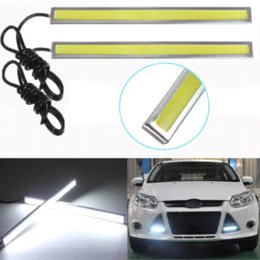 Wholesale Daytime Driving - Best Price 2X 17cm LED COB 84 Chip Pure White Car Auto Driving DRL Daytime Running Lights Lamp Waterproof Bar Strip DC12V
