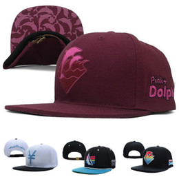 Wholesale Pink Dolphin Waves - Hot Pink Dolphin Corduroy Olympic Waves Zebra Tidal Snapback Caps & Hats Snapbacks Men Women Leopard Baseball Cap
