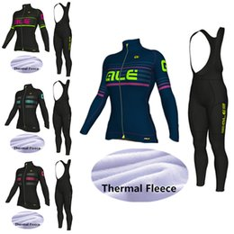 Wholesale Thermal Set For Women - ALE Thermal Fleece Cycling Jerseys Set Long Sleeves 2017 Winter Style For Women Ropa Ciclismo Quick Dry Compressed Bike Wear Size XS-4XL