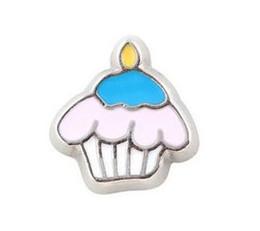 Deutschland 20 teile / los eis cupcake schwimm medaillon charms fit für glas magnetische speicher schwimm medaillon anhänger jewelrys machen cheap cupcakes pendant Versorgung