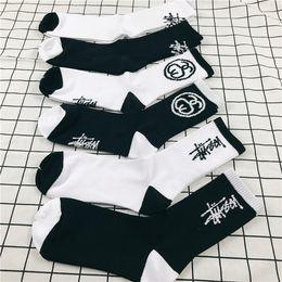 Wholesale White Stockings Cotton - Loves Fashion Stock Crew Socks Fashion Brand Hip Hop Women Men's Sockings Black White Sockings Letter Sports Socks Athletes Leg Stripe Socks