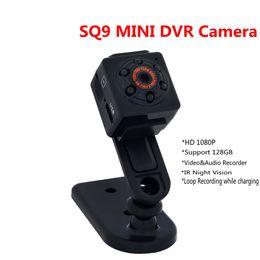 Wholesale Sport Camera Motion Detection - 2017 hottest Mini DV Sport Camcorder SQ9 HD 1080P Mini DV DVR Camera IR Night Vision Audio Video recorder with Motion Detection ann