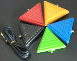 Wholesale Triangle Tattoo - 5Pcs Wholesale Mixed Color Triangle Tattoo Flat Foot Pedal Switch Footswitch Tattoo Supply