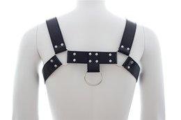 Wholesale Leather Strap Bondage Harness - Adults Games Faux Leather Harness Men Black Fetish Sex Bondage Restraint Male Slave Strap Belt Sexy Lingerie Sex Products