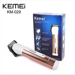 Wholesale Hair Trimmer Razor Comb - KM-029 Electric Hair Clipper Trimmer with Limit Comb Adjustor Rechargeable Hair Shaver Razor Cordless Adjustable Clipper EU plug 0604068