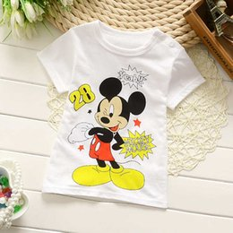 Wholesale Childrens Animal T Shirts - 2016 spring summer Fashion Baby Girls And Boys 95% cotton T-shirt Kids short Sleeve Blouses Tops Shirt childrens O-neck t-shirt.
