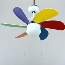 Wholesale Ceiling Fan Shade - Wholesale-Six leaf blade scimitar white + multi-color lamp ceiling ceiling fan lamp shade bayonet