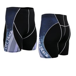 Wholesale Mma Wears - Wholesale-Men's Running Pants Anti-Sweat Fabric Wear Compression Pants Male Bodybuilding MMA GYM Running Tights Breathable Bottoms