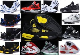 Wholesale Iv 11 - High Quality 4s Basketball Shoes 4s Sports Shoes Brand Designer Retro 4 IV Men Women Basketball Shoes Cheap 4s Sneakers 5-6-7-9-10-11-12-13