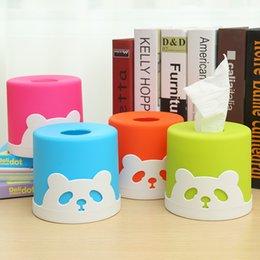 Wholesale Desktop Cute Box - Wholesale- Cute Type Lovely Panda Tissue Box Korean Originality Desktop tissue box porta guardanapo decorations for home box organizer
