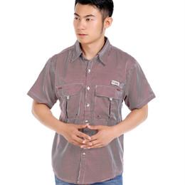 Wholesale Camisas Moda - Wholesale-Men's Shirt A Camisas Hombre 2016 Nueva Primavera Verano Moda Chemise Homme Para camisas de vestir manga corta para hombre