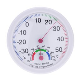 Wholesale Humidity Hygrometer Mini - Mini Indoor Analog Temperature Humidity Meter Instruments Thermometer Hygrometer termometre station meteo estacion metereologica