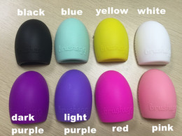 Wholesale Wholesale Eggs Prices - Silicone Makeup Brush Cleaner Cleaning Brush Egg Cosmetic Brush Cleanser Brushegg Cleaing Tool low price DHL shipping