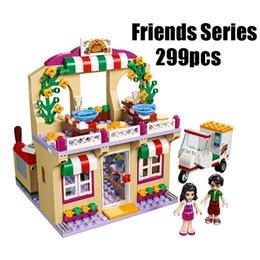 Wholesale Pizza Plastic - Compatible With Friends 41311 Lepin 01011 299pcs Building Blocks Restaurant Series Pizza Bricks Figure Toys For Children
