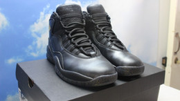 Wholesale Shipping Nyc - Cheap Wholesale Retro 10 NYC City Pack Black Grey Gold Mens Basketball Shoes High Quality Sports Shoes Hot Sale 310805-012 Free Shipping
