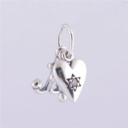 Wholesale 925 Silver Anchor Bracelet - Fits Pandora Charms Bracelet 925 Sterling Silver Original Bead Heart Cross Anchor European Charm Women DIY Jewelry