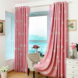 Wholesale Eyelets Curtains - Fashion Cloud Cartoon Children Curtain Thick Heavy Eyelet Draperies Cortina Blinds Shade Full Blackout Curtain For Living Room JI0145
