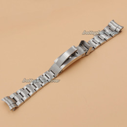 Wholesale End Clasps - Fit For ROLEXwatch 20mm 21mm Stainless steel Bracelet Curved end Silver Watchband watch Strap