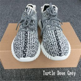 Wholesale Sports Insoles Shoes - With Insole 350 Boost Running Shoes Sneakers Women Kanye West 350 Sport Shoes Men Oxford Tan Pirate Black Moonrock Turtle Dove Grey
