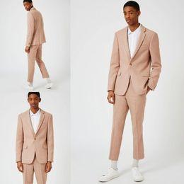 Wholesale Italian Suit 46 - Men's Suits Italian 2017 New Custom Made Slim Fit African Groom Tuxedos Side Slit Best Man Suit Wedding Groomsman Men's Suits Bridegroom