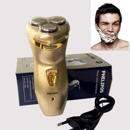 Wholesale Blade 3d - 3D Head Triple Blade electric shaver shaving the washable razor Rechargeable electric razor epilator Face Care RAZOR BLADES