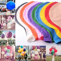 Wholesale 36 Inch Ball - 36 Inch Colorful Giant Big Ballon Blow Up Latex Birthday Wedding Ballons Birthday Balls Party Decoration OOA3128