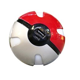 Wholesale Ar Ball - 2017 Newest Poke power bank 10000 mAh for Poke AR game powerbank with Poke ball LED light portable charge figure toys free shipping