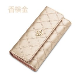 Wholesale Fashionable Credit Card Holders - Hot Sale Women's Wallet Fashionable Long 2016 New Hasp PU Leather Purse Wallet