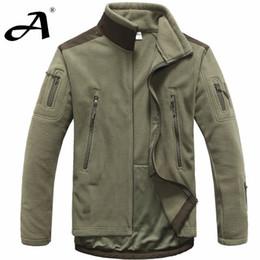 Wholesale Men Outdoor Hunting Jacket - mens clothing autumn winter fleece army jacket softshell outdoor hunting clothing for men softshell Tactical Jackets style jackets