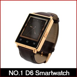 Wholesale NO D6 Smart Watch MTK6580 Android Smartwatch support what s app facebook Heart Rate Browser for Android DHL freeshipping
