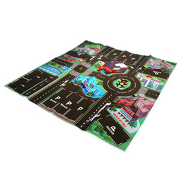 Wholesale Educational Baby Carpet - Wholesale- Thick Town City Traffic Baby Crawling Mat PVC Climbing Pad Green Road Children's Play Mat Carpet For Baby 70 * 70CM