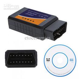 Wholesale Obd2 Scanner Tester Nissan - wholesale Mini ELM327 Wi-Fi OBD2 OBDII WiFi Car Diagnostic Interface Scanner Lots20