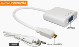 Wholesale Micro Hdmi Cord - Mico HDMI Male to VGA Female Video Cable Cord Converter Adapter for PC Laptop Micro HDMI to VGA Cable Adapter