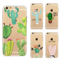 Wholesale Cartoon Flower Drawings - New stylish Colored Drawing Cute Cartoon Lovely Flower Painting Clear Soft TPU Case For iPhone 6 6S 7 Plus ultrathin Back Cover Skin