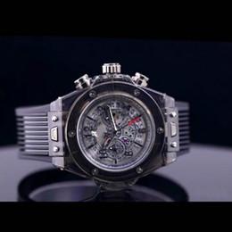 Wholesale Sports Famous - 2017 New Luxury famous brand men's watch transparent chronograph Sports Military Watches Clock Quartz Men Watches Relogio Masculino