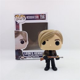 Wholesale Leon S Kennedy - PABITOYFIRM FUNKO POP Resident Evil Leon S. Kennedy Action Figure Super Hero Toys Movie series for Gift