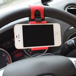 Iphone 5c t en Ligne-Support de volant de voiture support de téléphone mobile design élastique pour iPhone 4S 5 5S 5C GPS MP4 PDA PDA - commande de couleur aléatoire $ 18no t