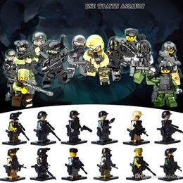 Wholesale Toy Assault Guns - 48pcs THE WRAITH ASSAULT Building Blocks Set Gun Strike CSF Soldiers Minifigures Building Blocks Sets Model Bricks Toys Gift