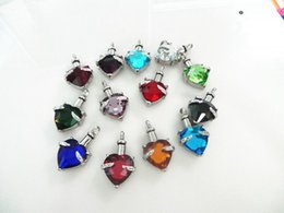 Wholesale Heart Birthstone Necklace - cremation jewelry,ash pendant,pendants for ashes,birthstone cremation urn jewelry,pendant to put ash,jewelry for cremation ashes