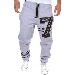 Wholesale Baggy Sweats - Wholesale-PKORLI Brand Harem Pants Men Casual Letters Printed Baggy Sweat Pants Mens Joggers Sport Trousers Loose Sweatpants Sarouel